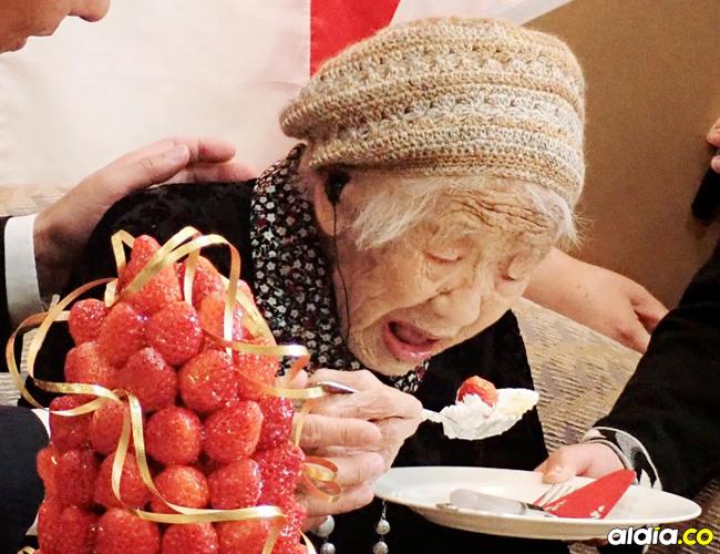 Kane Tanaka nació el 2 de enero de 1903 | AFP