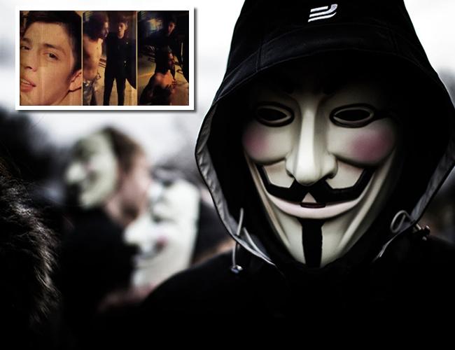 Anonymous amenazó con hacer pública la identidad del joven si este no se entregaba.