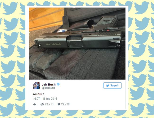 El tuit de Jeb Bush ha causado toda clase de reacciones -hilarantes- en Twitter |Foto: Captura de pantalla