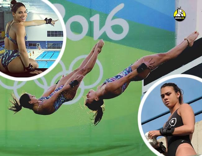 Ingrid Oliveira (izquierda) y Giovanna Pedroso (derecha) compitieron peleadas en su prueba de la plataforma de 10 metros en Rio 2016 | ALDIA.CO