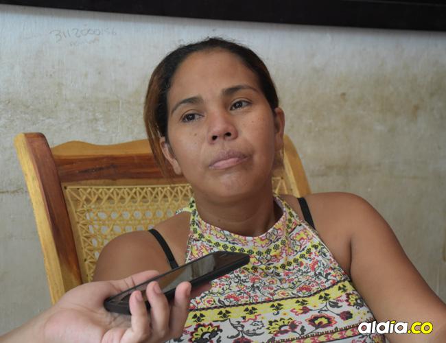 Dubis Herrera Martínez, mamá de Yulián, denunció el caso ante los periodistas de AL DÍA.