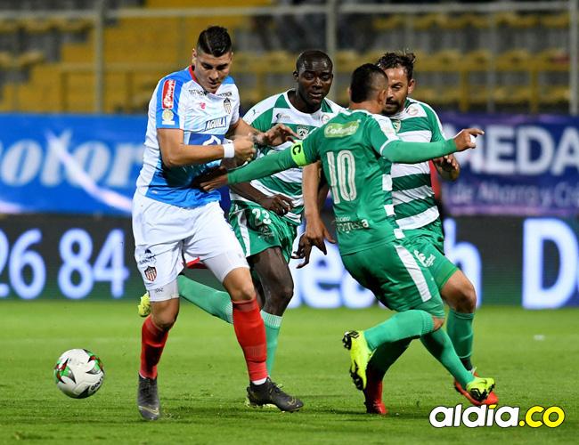 Michael Rangel marcó uno de los goles de Junior en el empate 2-2 contra La Equidad.