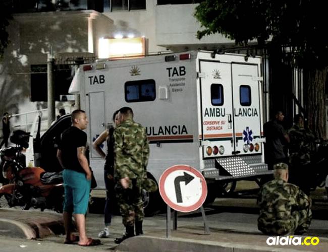 Testigos aseguran que el militar perdió el equilibrio y cayó desde un quinto piso   Cortesía