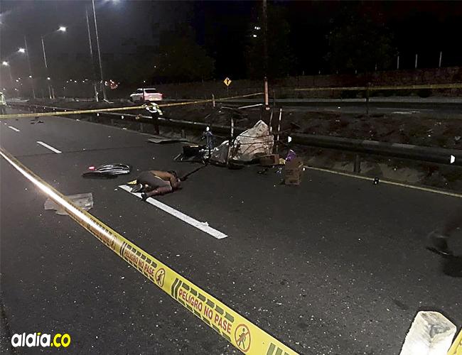 En plena Vía Circunvalar con carrera 53 murió atropellado por un carro Richard Ángel Pérez Bauza.