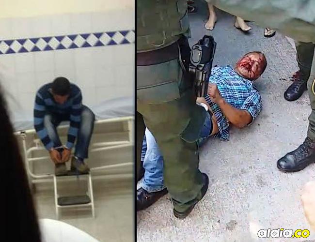 Los dos presuntos atracadores fueron capturados por las autoridades. | Archivo particular