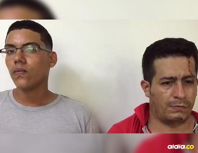 Estos son los dos hombres capturados por el atraco a la joyería en el barrio Buenavista. No llevaban documentos de identidad. | Al Día