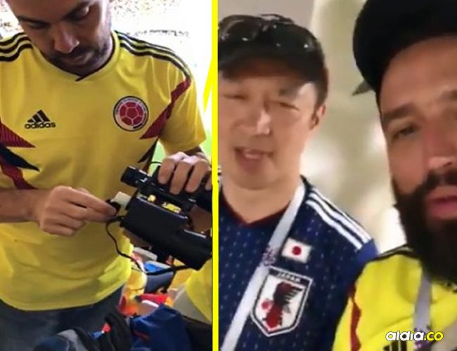 Colombianos haciendo actos indebidos.