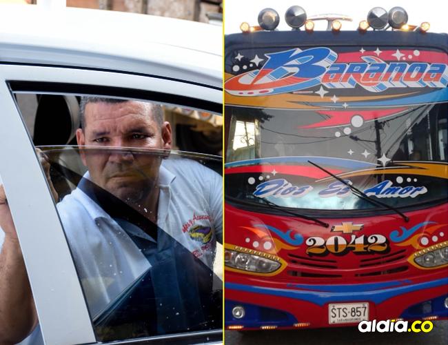 Saúl Puello Mojica lleva 22 años polarizando y trabajando con carros en esta cuadra. Decorado de un bus intermunicipal realizado por Dionisio García, 'el propio Boni'.
