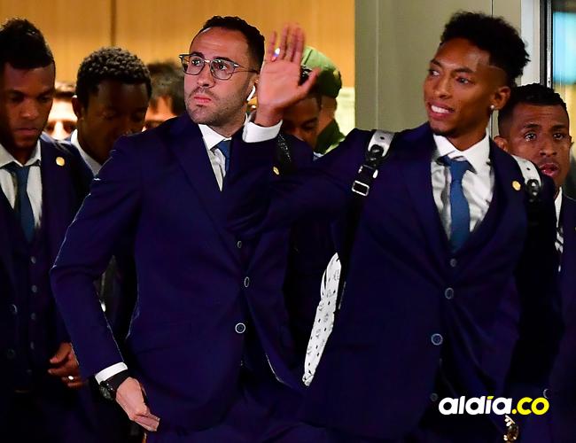 Jugadores de la selección nacional a su llegada a Kazán | AFP