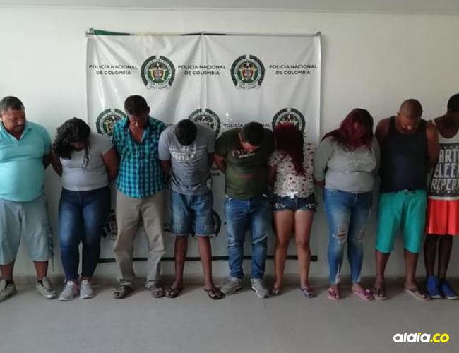 Los presuntos integrantes de la banda delinuencial. | Cortesía