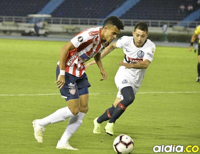 Luis Díaz (izq.) es una de las principales armas que tiene Junior en ataque. Hoy será titular ante Nacional.