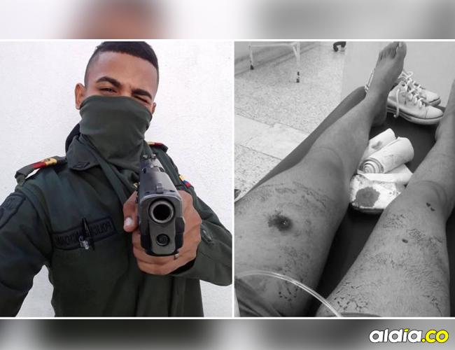 Yelmer Heberto Pérez, el auxiliar involucrado en el hecho. En la imagen de la derecha, la adolescente baleada. | Suministrada