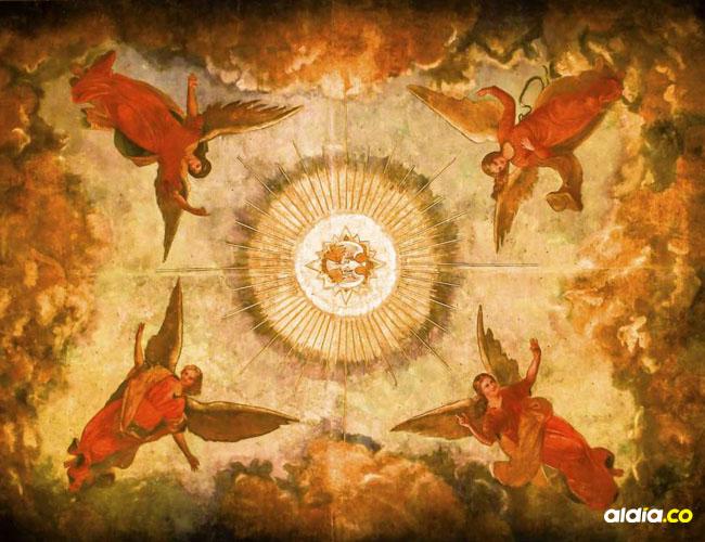Los ángeles de la cúpula de San Nicolás de Tolentino, la primera iglesia de Barranquilla, construida en el siglo XVII.   César Bolívar
