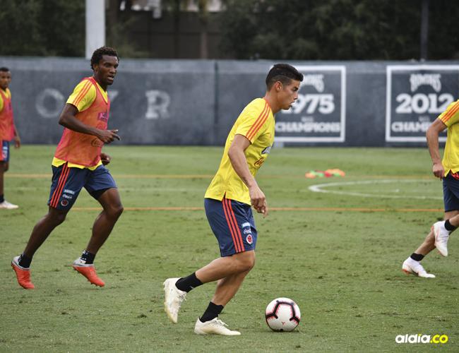 James Rodríguez llega recuperado de sus dolencias físicas al partido amistoso de hoy ante Estados Unidos en Tampa.