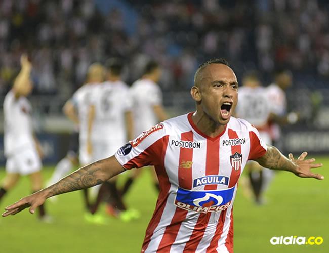 Acción del gol convertido por Jarlan Barrera.