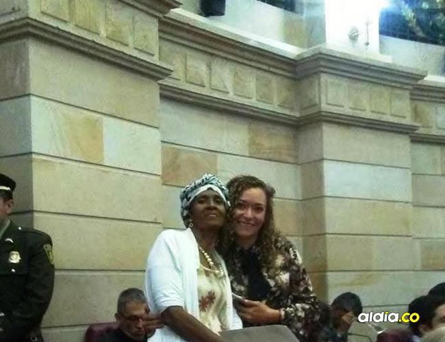 La líder Maritza Quiroz en el Congreso de la República.