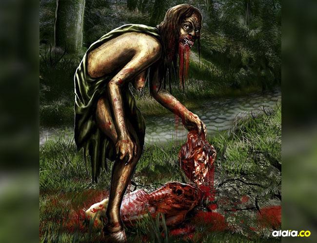Según la leyenda la mujer a la que le fue cortada una pierna se alimenta de carne y sangre humana.