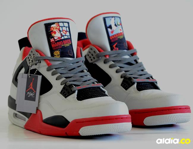 Así luce uno de los modelos que sacó Nike Air Jordan inspirado en Nintendo