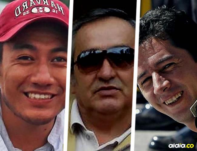 El periodista Javier Ortega (32), el fotógrafo Paúl Rivas (45) y el conductor Efraín Segarra (60) | AFP