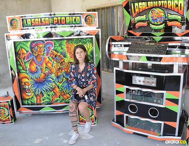 La austriaca Stefanie Moshammer en plena labor en el barrio El Bosque. | Al Día