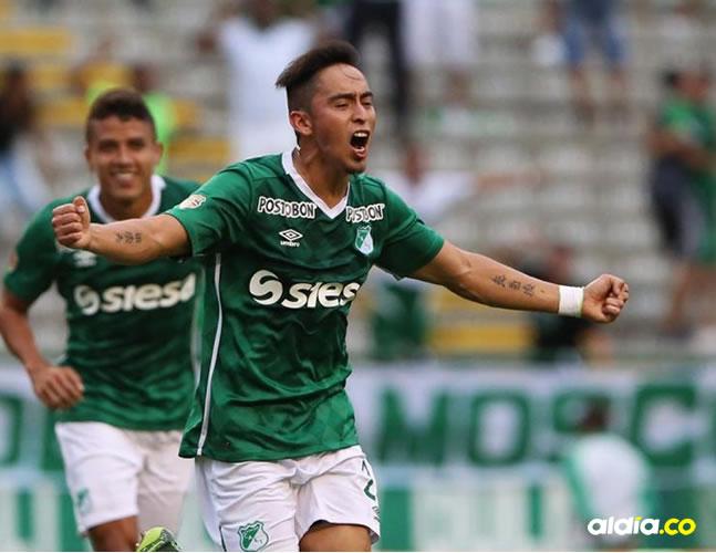 Fabián Sambueza festejando un gol con el Cali. | Tomada de Internet