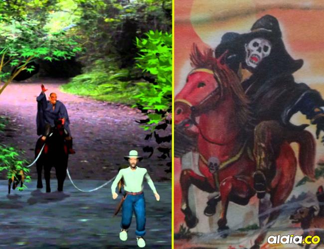 El Sombrerón aparece acompañado de unos perros negros que son muy aterradores. | Ilustración