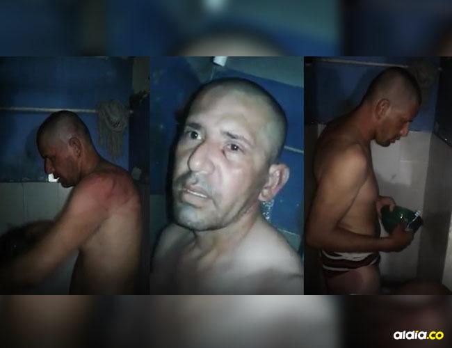 12 días de esta treImágenes del video, donde se ve el sometimiento de los reclusos a Gómez Vaca.