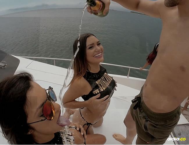 La fiesta incluye un viaje en yate y descontrol total en Cartagena | Captura de pantalla