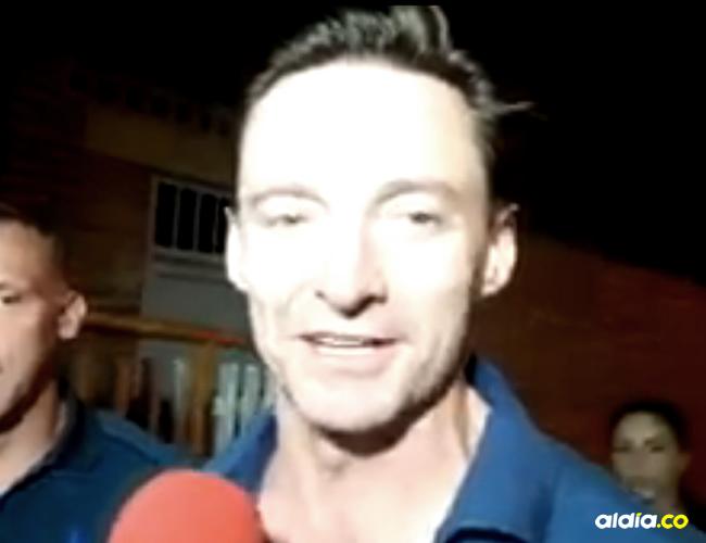 El actor llegó en horas de la noche en un jet privado al aeropuerto Benito Salas | Captura