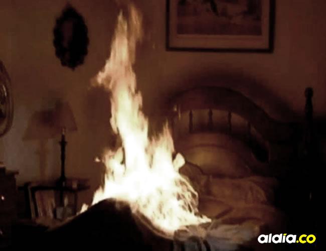 Los colchones de esta vivienda se quemaban de repente | Cortesía