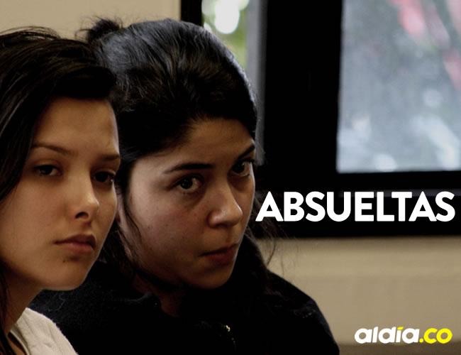 Jessy Quintero y Laura Moreno fueron absueltas por un juez en la ciudad de Bogotá | Cortesía