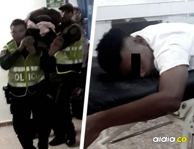 Para evitar que fueran linchados, los presuntos delincuentes se hicieron los muertos | Cortesía