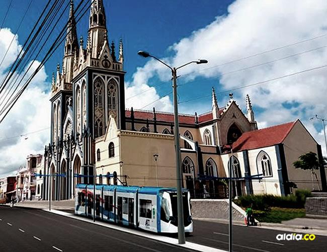 El metro ligero recorrerá toda la calle 30 de la ciudad de Barranquilla | Render del proyecto