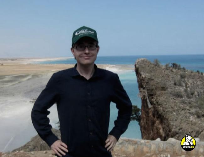 Henrik Jeppesen  visitó la isla de Socotra, Yemen, esta foto es frente a las costas del Cuerno de África | BBC Mundo