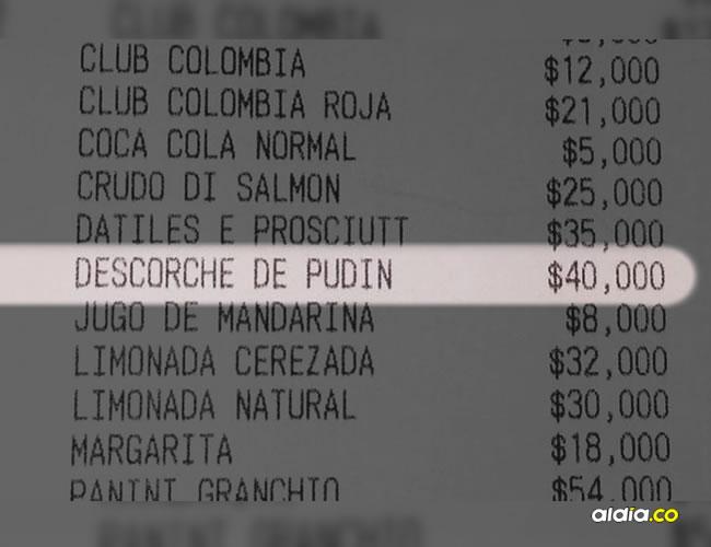 El pasado fin de semana se desató una controversia cuando un cliente del restaurante La Diva denunció que le cobraron, sin avisarle, 40.000 pesos por entrar y consumir una torta | Facebook