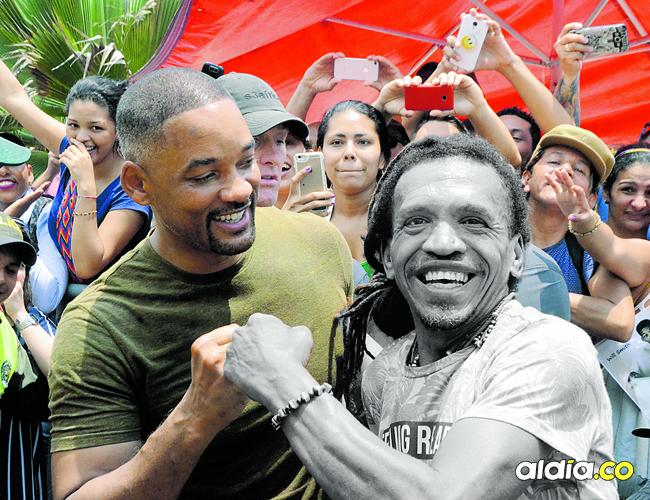 Al popular 'Rasta' le gustaba tomarse fotos con los famosos y su última fotografía la logró al lado del actor Will Smith | Carlos Graterol