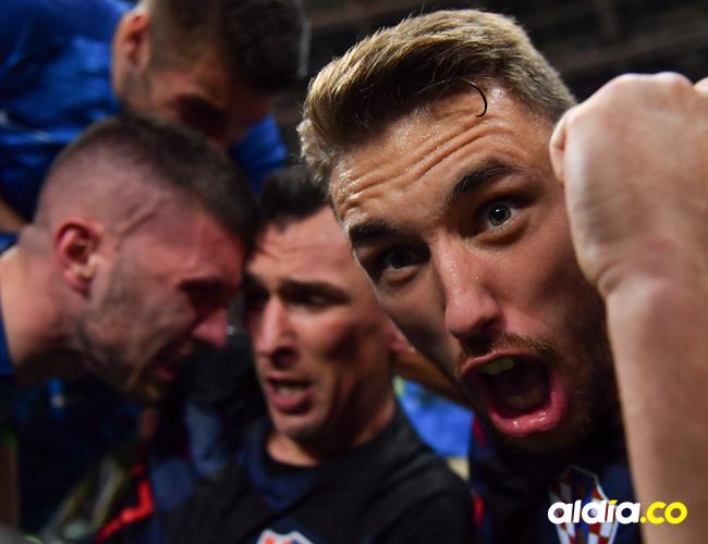 Jugadores de la Selección de Croacia celebran su triunfo | AFP