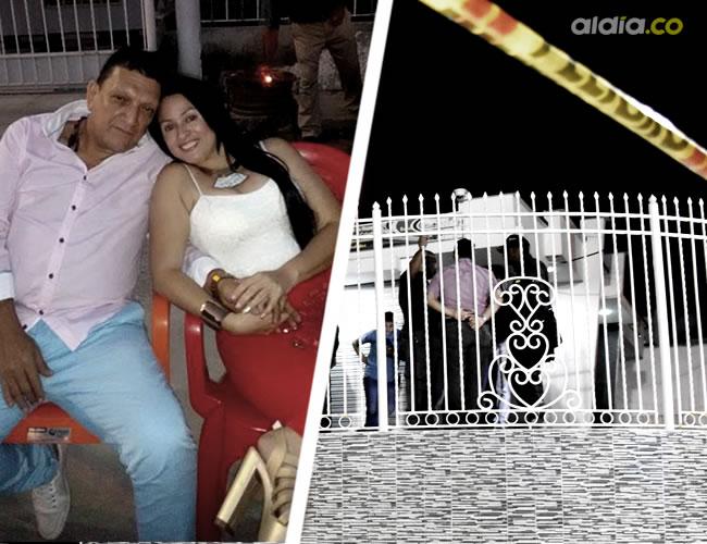 Nini Patricia Palomino, de 36 años, junto a su esposo Gustavo Vargas Buitrago.