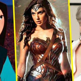 Mulan, la Mujer Maravilla y Miranda Presley de la cinta 'El diablo viste a la moda'.