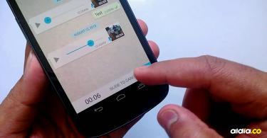 La actualización de enviar notas de voz sin tener el botón presionado, tendría otras limitaciones | Youtube