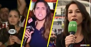 Las reporteras exigen ser respetadas por los hinchas. | Tomada de: Captura de pantalla.