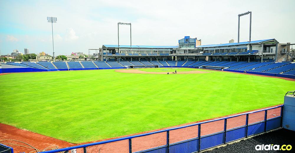 Panorámica del estadio de béisbol Édgar Rentería, que acogerá desde hoy hasta el 28 de octubre el Mundial Sub-23.