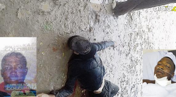 De acuerdo con testigos esta persona sería Douglas Pérez Ortega, el herido, poco después de ser baleado.