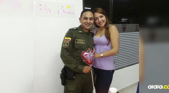 Walter Chaparro y su esposa Diana Sandoval. | Tomado de Facebook.
