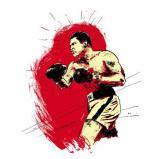 Alí fue en un referente cultura y un ícono contestatario más allá de lo derportivos | ilustración: caseyburns.com