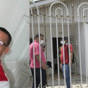 En esta casa del barrio Chiquinquirá ocurrieron los hechos en los que fue asesinado Esdeduer Churios Severiche.
