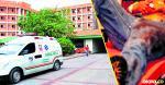 Andrés Muñoz fue trasladado en una ambulancia al Rosario Pumarejo de López   Foto referencia