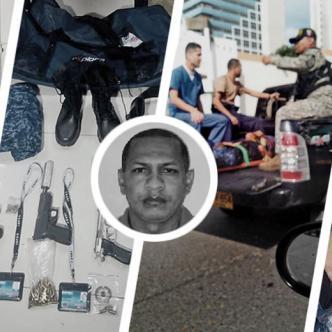 Yeison Andrés Rico Posada (izq), uno de los delincuentes capturados, cuando era trasladado a un centro médico. | Lorena Henríquez/AL DÍA