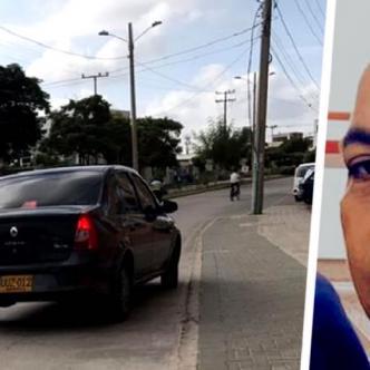 El carro Reanult Logan en que intentaron secuestrar a Rubén Carboné Atencia en Villa Campestre | AL DÍA