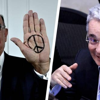 Humberto de la Calle, jefe negociador del gobierno en los acuerdos de paz con las Farc y Álvaro Uribe, líden principal en la campaña por el NO al plebiscito | Al Día